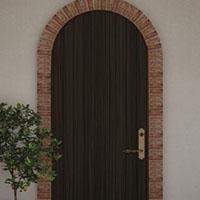 arched exterior door