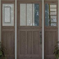 wood & glass entry door